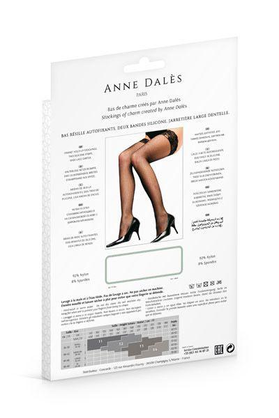 CHulki Anne De Ales CAMILLA 1 - Чулки в мелкую сеточку Anne De Ales CAMILLA на силиконе