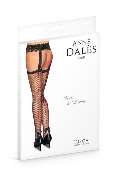 Anne De Ales TOSCA 1 - Чулки в сетку и пояс TOSCA - Anne De Ales большого размера