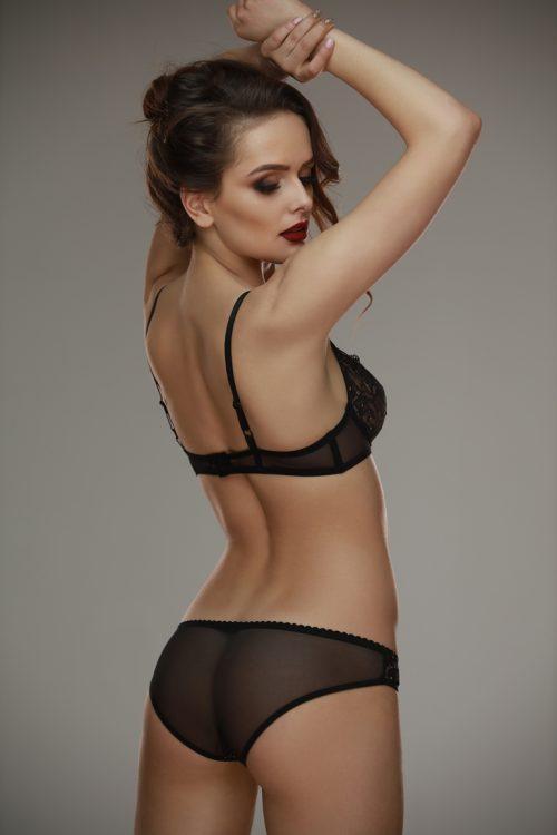 Gala blackbeige bra Lamore 1 500x750 - Трусики кружевные Gala black+beige  L'amore