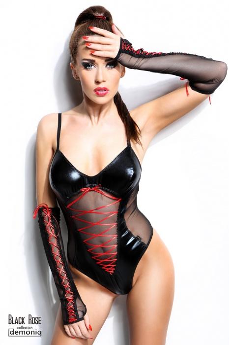 Evelyne Demoniq  - Боди из латекса с перчатками Evelyne Demoniq