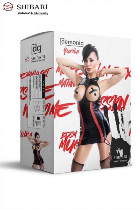Yuriko set Demoniq 2 - Платье из латекса с открытой грудью  и чулки Yuriko set Demoniq