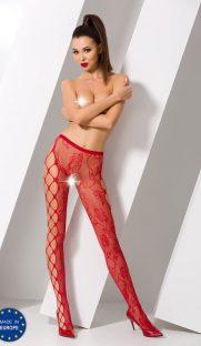 s008 red 181x312 - Колготы с вырезом между ног и узором по бокам S008 Passion