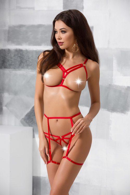 MAGALI SET WITH OPEN BRA 500x750 - Комплект из тесемок с открытой грудью MAGALI SET WITH OPEN BRA большого размера