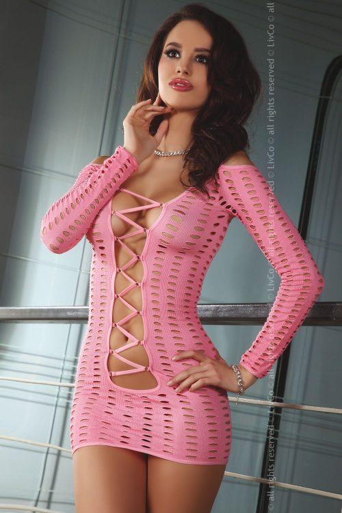 Cantara 500x750 - Ажурное эластичное платье с длинным рукавом Cantara Livia Corsetti