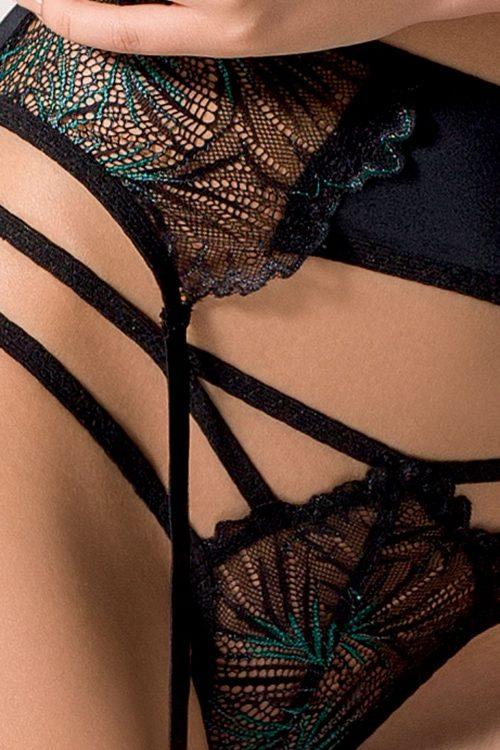 FLORIS SET black 1 500x750 - Кружевной комплект с ремешками FLORIS SET - Passion большого размера