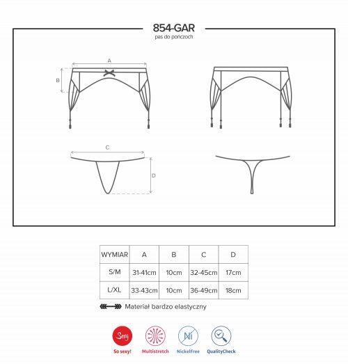 854 gar 500x523 - Пояс для чулок из ремней Obsessive 854-GAR-1
