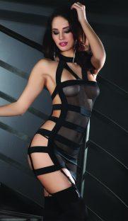 Laurinda Livia Corsetti  181x312 - Глянцевые чулки с шнуровкой сзади большого размера