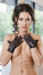 MIRIAM GLOVES CHernyj 1 181x312 - Кружевные короткие перчатки IRALL ERO MIRIAM GLOVES