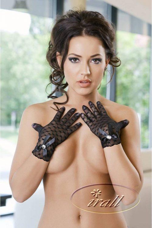 MIRIAM GLOVES CHernyj 1 500x750 - Кружевные короткие перчатки IRALL ERO MIRIAM GLOVES