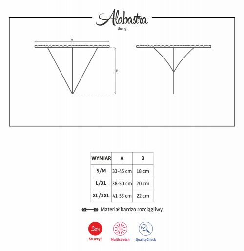 alabastra thong 500x515 - Стринги из кружева  ALABASTRA THONG Obsessive