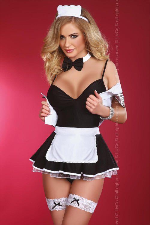 FLIRTY MAID 1 500x750 - Игровой костюм горничной (официантка) Flirty maid Livia Corsetti