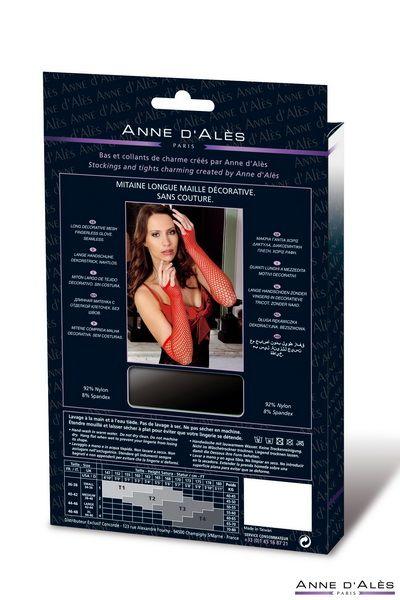 Mitenki setka Anne De Ales Red  - Митенки (перчатки без пальцев) из сетки Nathalia  Anne De Ales