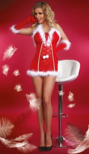 Snow Queen Livia Corsetti 181x312 - Новогодняя сорочка с перчатками Snow Queen Livia Corsetti