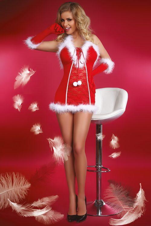 Snow Queen Livia Corsetti 500x750 - Новогодняя сорочка с перчатками Snow Queen Livia Corsetti