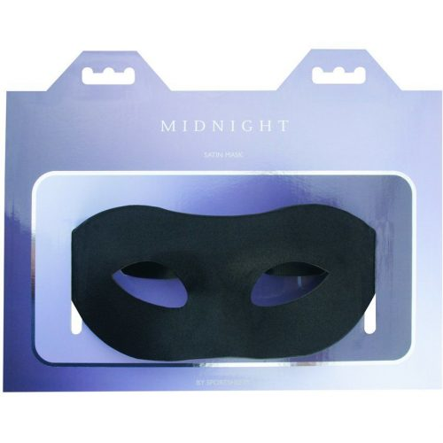 Maska saninovaya SO2170  500x500 - Маска из сатина Sportsheets Midnight Satin Mask