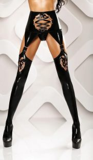 lateksnyj poyas s chulkami horny stockings lolitta flirtoshop.com.ua 181x312 - Латексный пояс с чулками Horny stockings Lolitta
