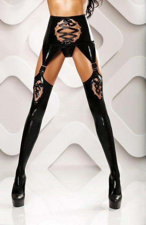 lateksnyj poyas s chulkami horny stockings lolitta flirtoshop.com.ua 500x769 - Латексный пояс с чулками Horny stockings Lolitta