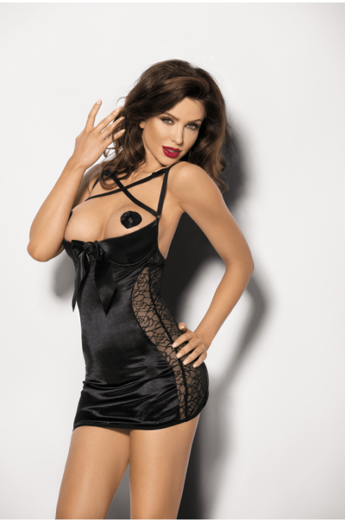 flirtoshop.com.ua 11 500x757 - Атласная сорочка с открытой грудью  Pequena ANS