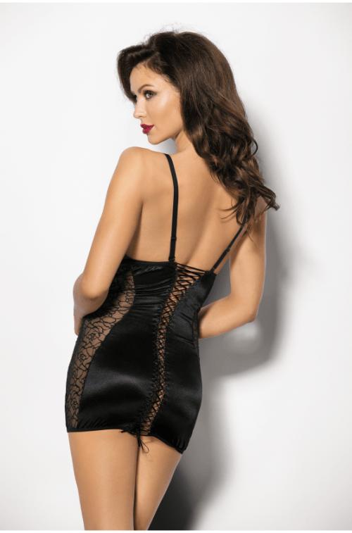 flirtoshop.com.ua 12 500x757 - Атласная сорочка с открытой грудью  Pequena ANS
