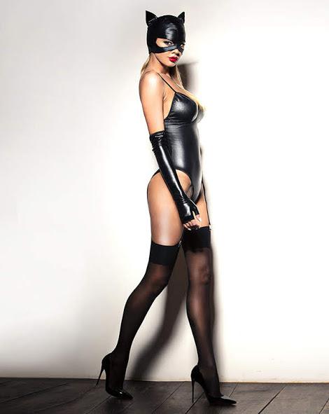 flirtoshop.com.ua - Боди под мокрую кожу с подтяжками для чулок и перчатками