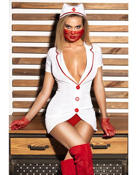igrovoj kostyum medsestra halat maska shapochka perchatki flirtoshop.com.ua - Игровой костюм медсестра - Халат, маска, шапочка, перчатки