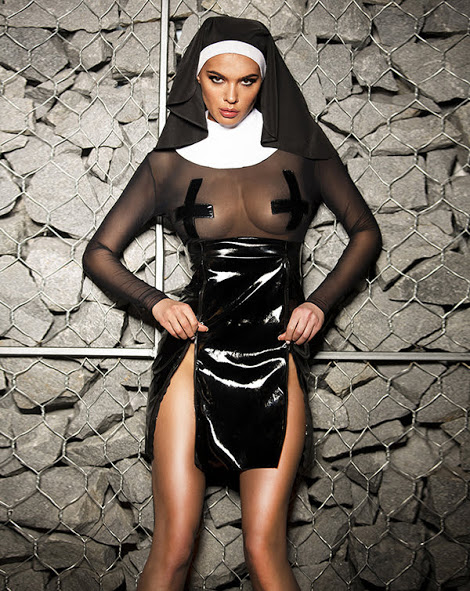 igrovoj kostyum monashka flirtoshop.com.ua 1 - Полупрозрачный игровой костюм Монашка с длинным рукавом