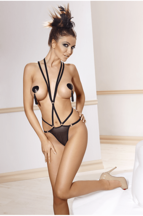 seksualnoe bodi portupeya anais inez flirtoshop.com.ua 500x757 - Сексуальное боди (портупея) Anais Inez
