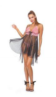 prozrachnaya sorochka bebidoll s kruzhevnym lifom excellent beauty flirtoshop.com.ua 1 181x312 - Прозрачная сорочка-бебидолл с кружевным лифом Excellent Beauty