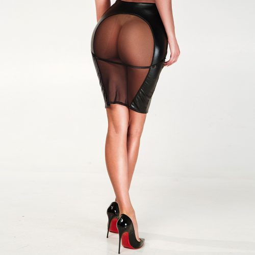 lakirovannaya yubka s otkrytoj popoj i setkoj flirtoshop.com.ua 500x500 - Лакированная юбка с открытой попой и сеткой