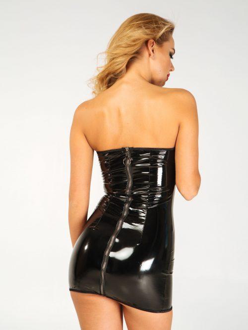 lakovoe plate s molniej szadi flirtoshop.com.ua 1 500x667 - Лаковое платье  с молнией сзади