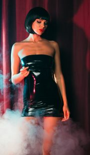 lakovoe plate s molniej szadi flirtoshop.com.ua 181x312 - Лаковое платье  с молнией сзади