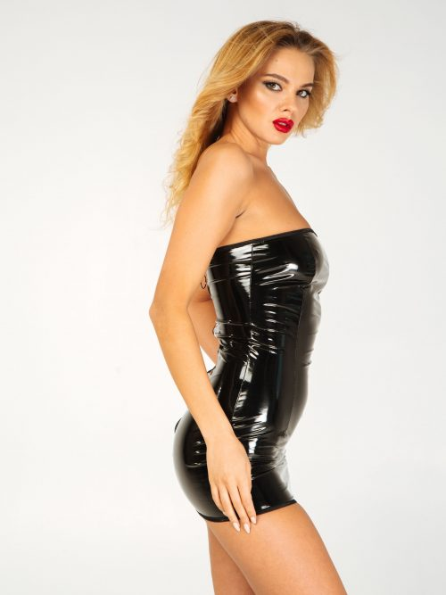 lakovoe plate s molniej szadi flirtoshop.com.ua 2 500x667 - Лаковое платье  с молнией сзади