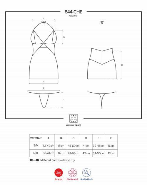 844 che 1obsessive flirtoshop.com.ua 2 500x627 - Полупрозрачная сорочка с кружевными вставками 844-CHE-1  Obsessive