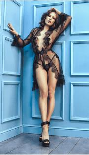 anais dita flirtoshop.com.ua 181x312 - Прозрачный халат с длинным рукавом Anais Dita