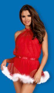 santastic obsessive flirtoshop.com.ua 181x312 - Новогоднее боди с накидкой и мехом Santastic  Obsessive