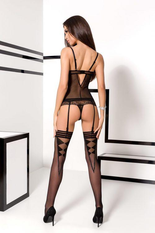 velia corset passion flirtoshop.com.ua 2 500x750 - Полупрозрачный корсет с мягкими чашками VELIA CORSET Passion большого размера