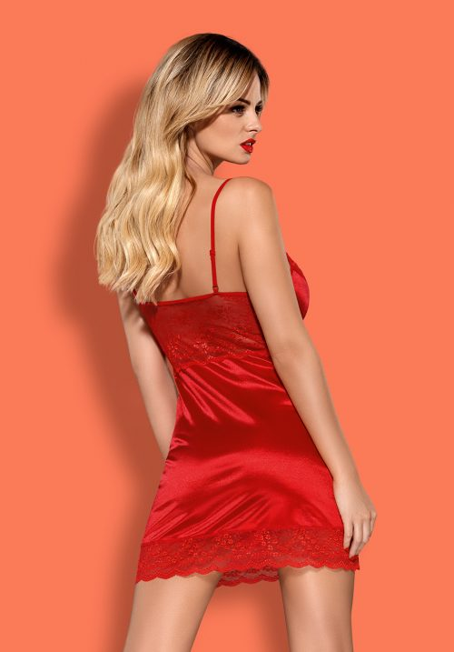 obsessive lovica chemise flirtoshop.com.ua 3 500x717 - Облегающая сорочка с чашкой на косточках Obsessive Lovica chemise