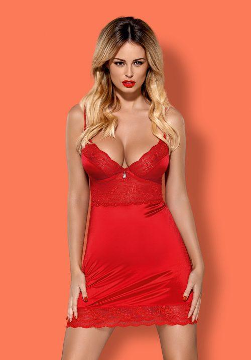 obsessive lovica chemise flirtoshop.com.ua 500x717 - Облегающая сорочка с чашкой на косточках Obsessive Lovica chemise