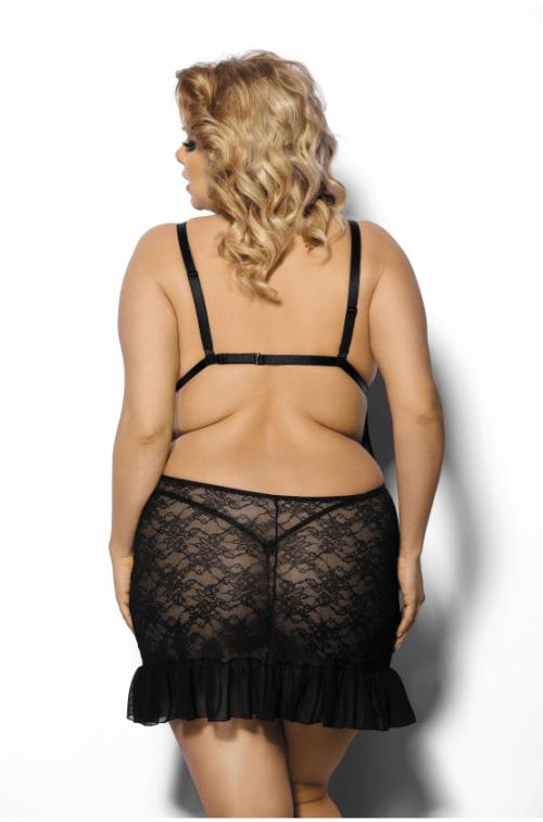flirtoshop.com.ua 14 500x757 - Сорочка из кружева с цветочным узором Anais Evona большого размера