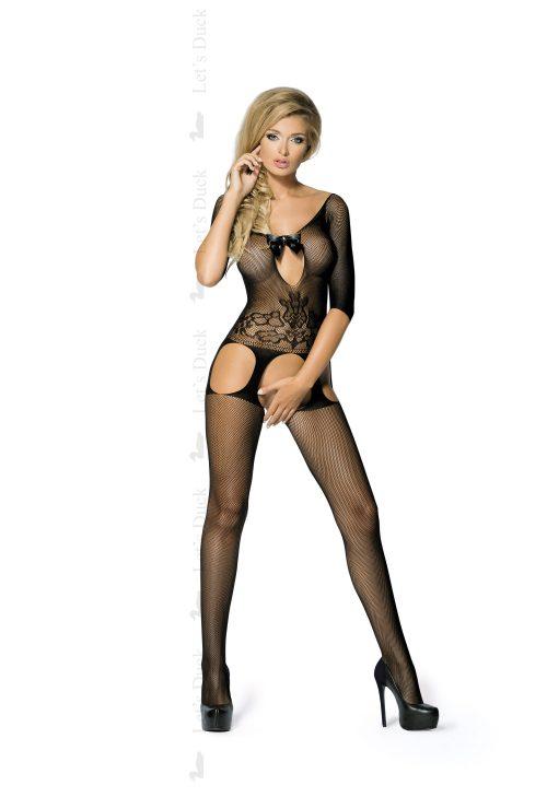 flirtoshop.com.ua 32 500x729 - Бодистокинг с имитацией чулок и длинным рукавом Let's Duck - LIVINLOV