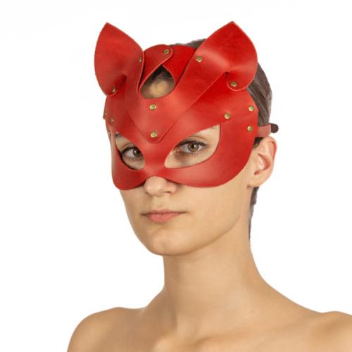flirtoshop.com.ua 4 500x500 - Маска - кошка из натуральной кожи, цвета: красная, зеленая, голубая