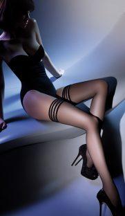calze lux 15 den gabriella flirtoshop.com.ua 181x312 - Тонкие чулки Calze Lux 15 den Gabriella на силиконе