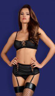 obsessive rebella garter belt set flirtoshop.com.ua 181x312 - Комплект с поясом и шнуровкой  Obsessive Rebella garter belt set