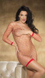 flirtoshop.com.ua 15 181x312 - Сексуальная сорочка из сетки со стразами