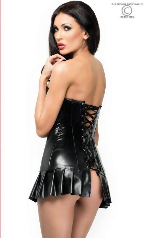 3869 dress mini chilirose flirtoshop.com.ua 1 500x800 - Платье-корсет из эко-кожи со складками  DRESS MINI  Chilirose