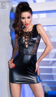 chilirose 4339 dress mini latex flirtoshop.com.ua 181x312 - Сорочка под латекс с кружевными вставками Chilirose  DRESS MINI Latex