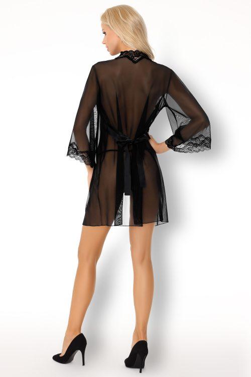 mirabella lc flirtoshop.com.ua 4 500x750 - Комплект сорочка и халат с кружевом Mirabella  LC