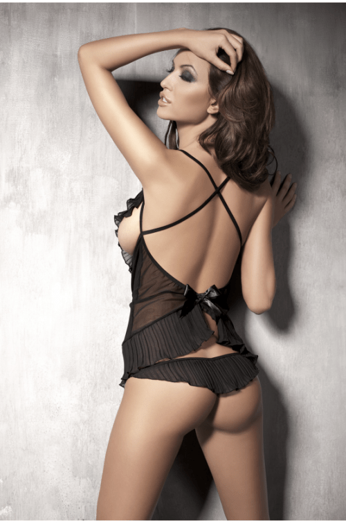 anais caprice flirtoshop.com.ua 1 500x757 - Комплект с открытой грудью и стринги Anais Caprice