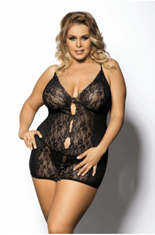 anais ymare flirtoshop.com.ua 1 500x757 - Короткая облегающая сорочка Anais Ymare большого размера