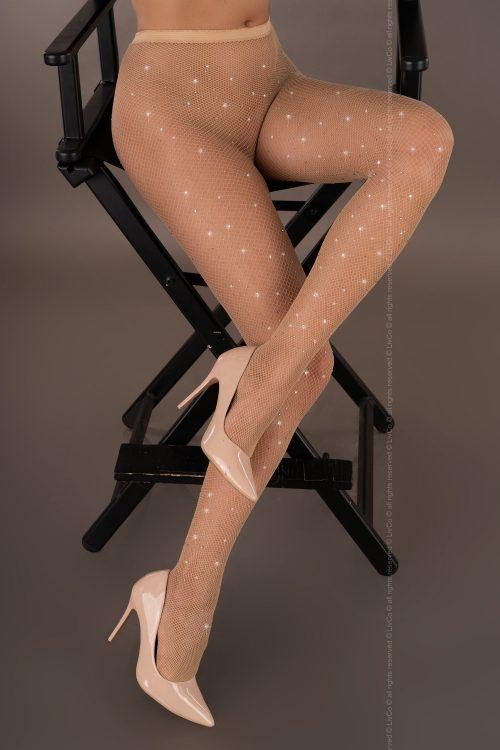 mailaris livia corsetti flirtoshop.com.ua 500x750 - Колготки в мелкую сетку со стразами Mailaris  Livia Corsetti